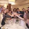 35 - Il brindisi di organizzatori con amici e Claudio Sacco di Viaggiatore Gourmet