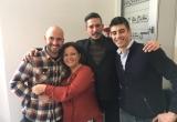 23 - Gli organizzatori con il produttore greco Jason Ligas e Iris Romano