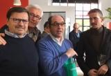 28 - Lo chef Ettore Bocchia, Andrea Sala e due appassionati fans